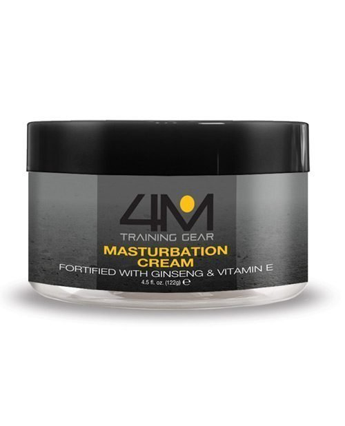 4M Training Gear Endurance Masturbation Cream w/Ginseng - 4.5 oz White