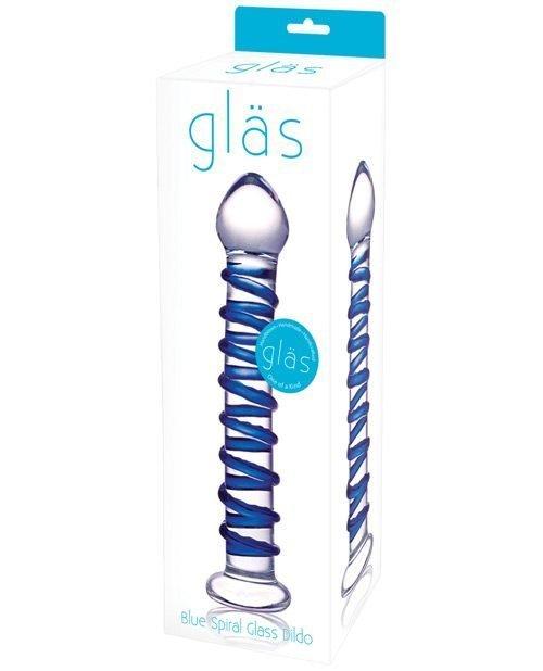 Glas Spiral Glass Dildo - Blue