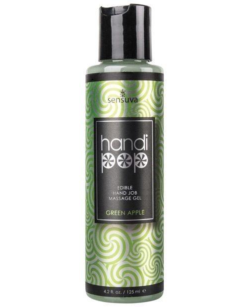 Handipop Hand Job Massage Gel - 4.2 oz Bottle Green Apple