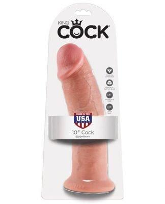 """King Cock 10"""" Cock - Flesh"""