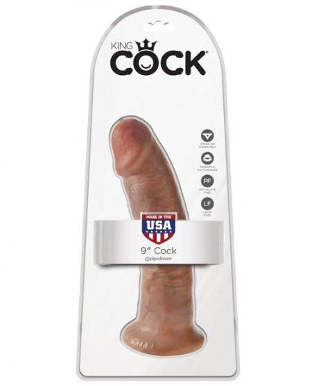 """King Cock 9"""" Cock - Tan"""