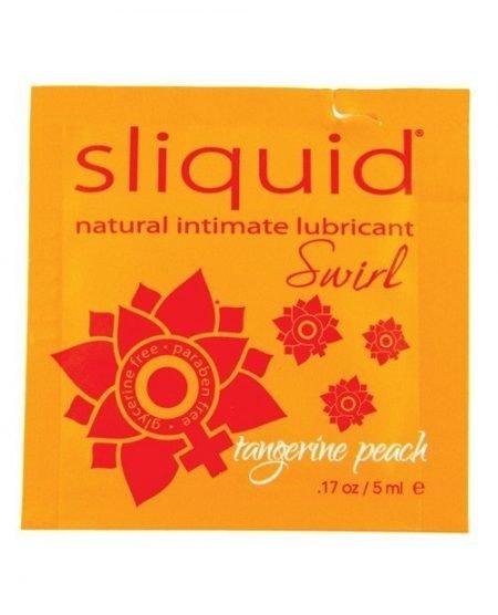 Sliquid Naturals Swirl Lubricant Pillow - .17 oz Peach
