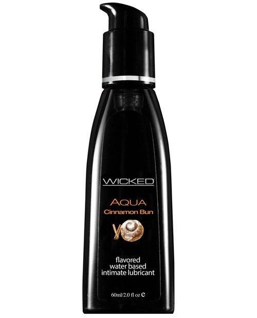 Wicked Sensual Care Aqua Waterbased Lubricant - 2 oz Cinnamon Bun