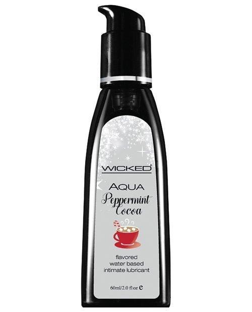 Wicked Sensual Care Aqua Waterbased Lubricant - 2 oz Peppermint Cocoa