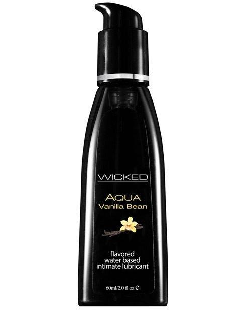 Wicked Sensual Care Aqua Waterbased Lubricant - 2 oz Vanilla Bean