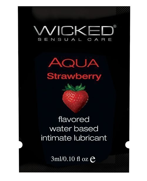 Wicked Sensual Care Waterbased Lubricant - .1 oz Strawberry