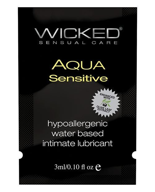 Wicked Sensual Care Hypoallergenic Aqua Sensative Waterbased Lubericant - .1 oz