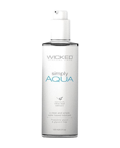 Wicked Sensual Care Simply Aqua Water Based Lubricant - 4 oz