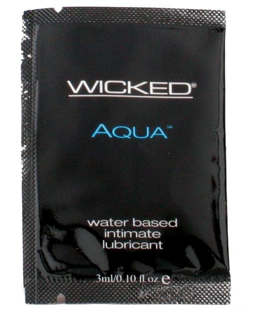 Wicked Sensual Care Aqua Water Based Lubricant - .1 oz Fragrance Free