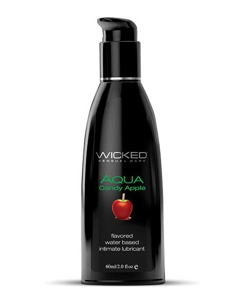 Wicked Sensual Care Aqua Water Based Lubricant - 2 oz Candy Apple
