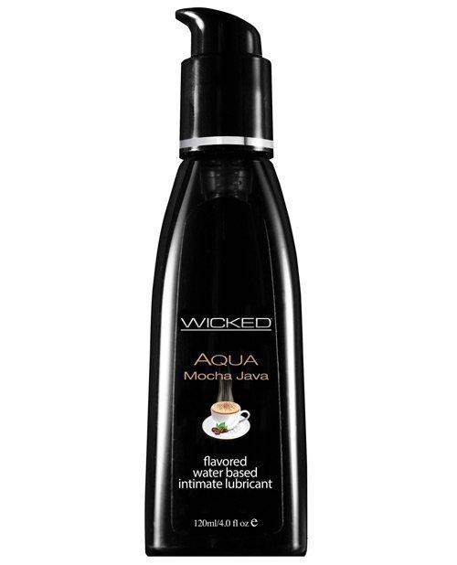 Wicked Sensual Care Aqua Water Based Lubricant - 4 oz Mocha Java