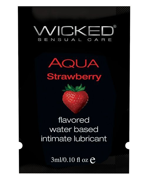 Wicked Sensual Care Water Based Lubricant - .1 oz Strawberry