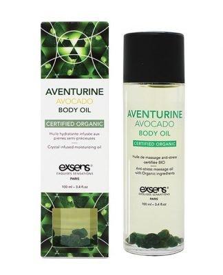 EXSENS Organic Body Oil w/Stones - Adventurine Avocado 100 ml