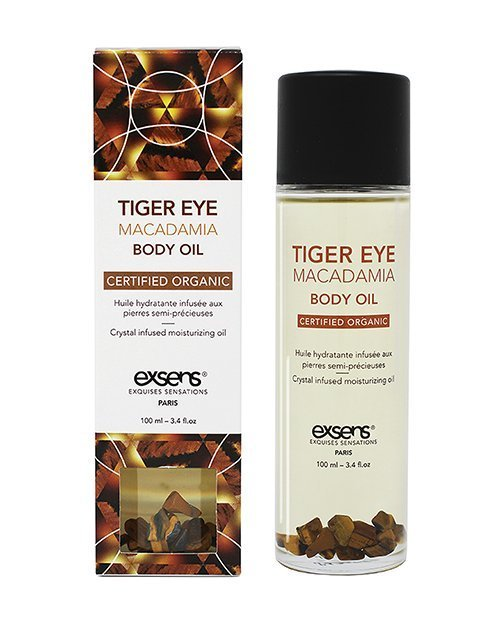 EXSENS Organic Body Oil w/Stones - Tiger Eye Macadamia 100 ml