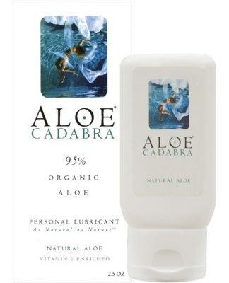 Aloe Cadabra Organic Lubricant - 2.5 oz Bottle Natural