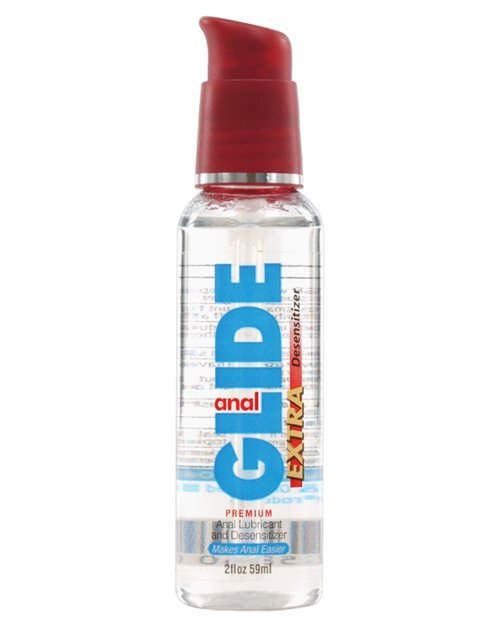 Anal Glide Extra Anal Lubricant & Desensitizer - 2 oz Pump Bottle