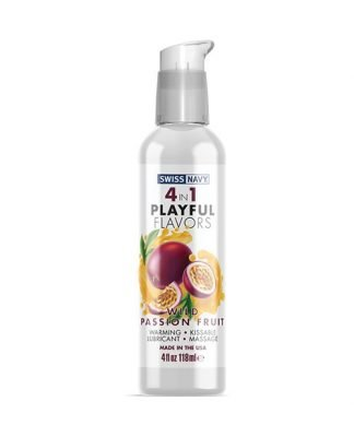Swiss Navy 4 in 1 Playful Flavors Wild Passion Fruit - 4 oz